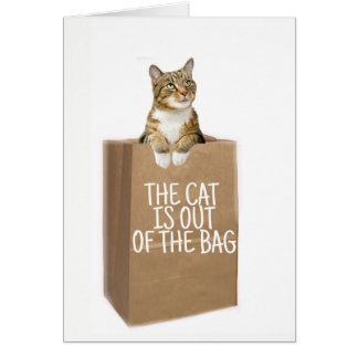 CONGRATS (Cats Out Of The Bag) Card