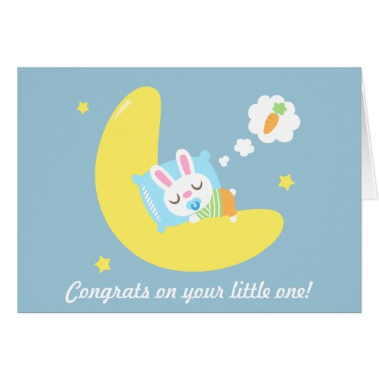 Congrats for New Parents Baby Bunny in Dreamland