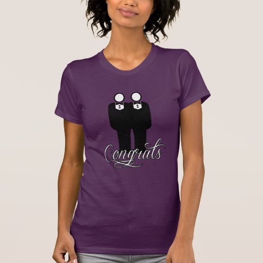 CONGRATS GAY WEDDING -.png T-shirts