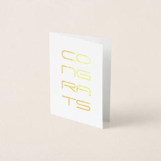 congrats gold foil foil card