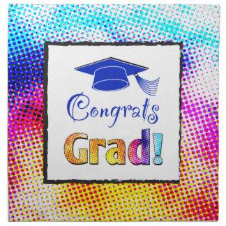 Congrats Grad Colors, Fun Cloth Napkins