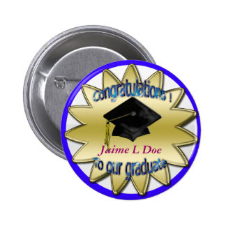 congrats grad commemorative 6 cm round badge
