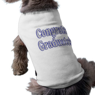 Congrats Graduate Blue & Silver Sleeveless Dog Shirt