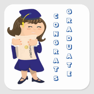 Congrats Graduate Girl Stickers