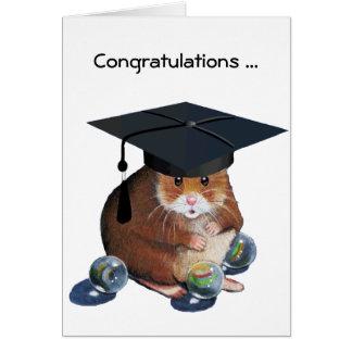 Congrats Graduate Hamster All Marbles Intact Card