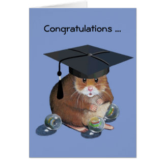 Congrats Graduate: Hamster: All Marbles Intact Card