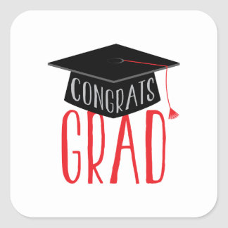Congrats Graduate Square Sticker