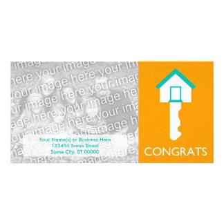 congrats house key photo cards