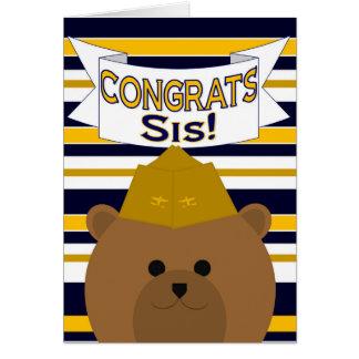 Congrats Naval Aviator Sister / Sis Greeting Card