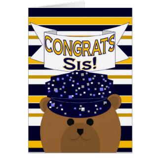 Congrats - Navy Active Duty - Sister / Sis Greeting Card