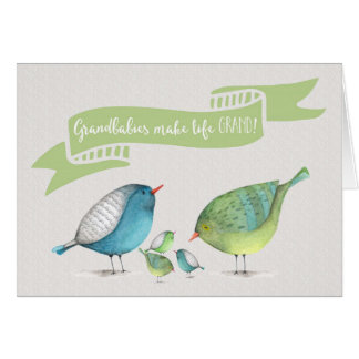 Congrats on Triplets-Grandbabies make life GRAND Card
