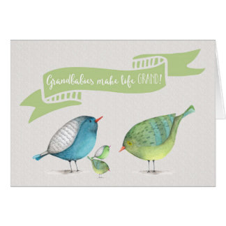 Congrats on Twins-Grandbabies make life GRAND Card