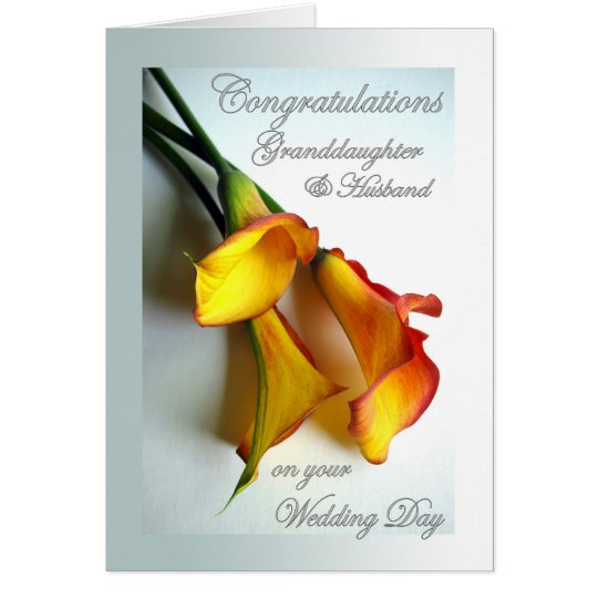 Congrats to Granddaughter & Husband on Wedding Card