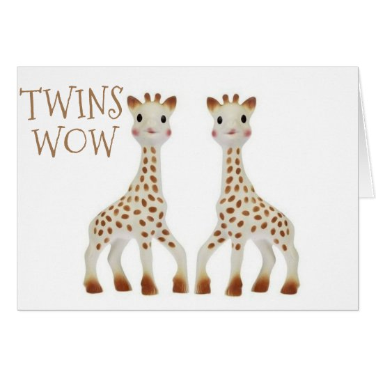 """CONGRATS """"""""TWINS"""""""" DOUBLE THE LOVE AND HAPPINESS CARD"""