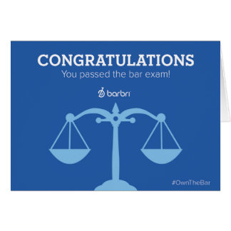 Congrats You Passed the Bar Exam Greeting Card