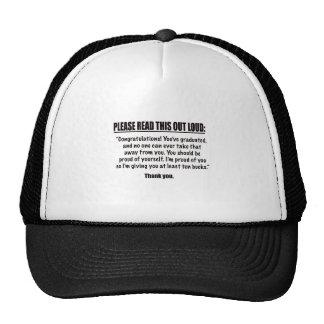 Congratulate Me Mesh Hat