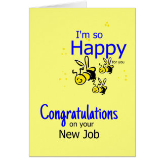 Congratulation on a new job greeting card