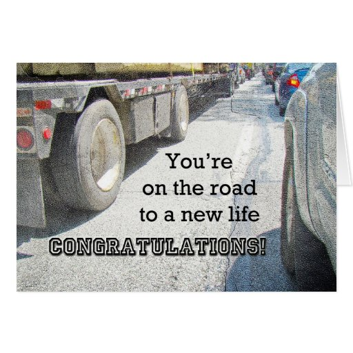 Congratulation on New Road in Life - Turnpike Greeting Cards