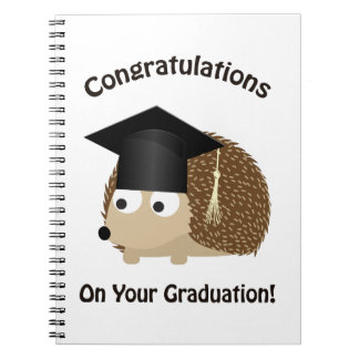 Congratulation on Your Graduation Hedgehog Notebook