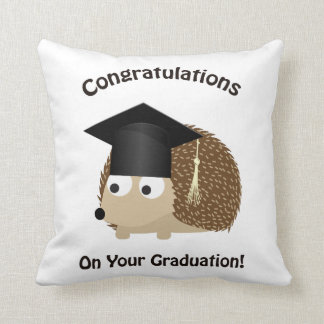 Congratulation on Your Graduation Hedgehog Throw Pillow
