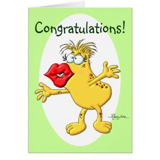 Congratulation Smooch Greeting Card