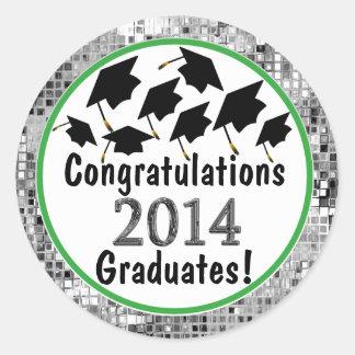Congratulations 2014 Graduation Flying Caps Sticker