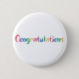 Congratulations 6 Cm Round Badge