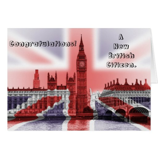 Congratulations! A new British Citizen Greeting Cards