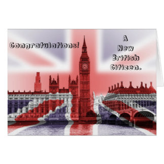 Congratulations! A new British Citizen Greeting Card