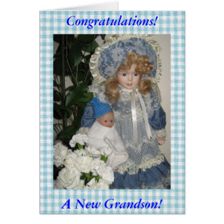 Congratulations a New Grandson Greeting Card