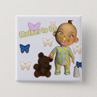 Congratulations A, pregnant, expecting a baby 15 Cm Square Badge