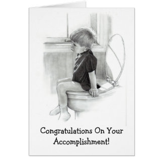 CONGRATULATIONS, ACCOMPLISHMENT: HUMOR GREETING CARD
