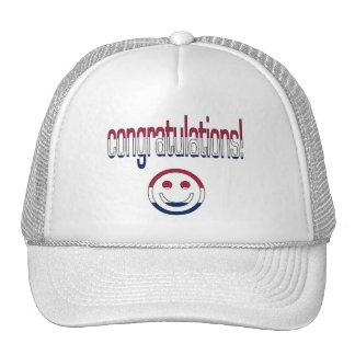 Congratulations! America Flag Colors Trucker Hats