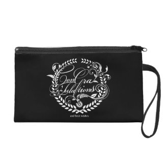 Congratulations and best wishes (white ver.) wristlet