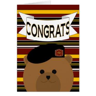 Congratulations Army Hero Card