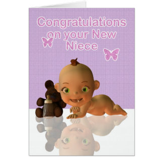 Congratulations Aunt and Uncle New baby Niece blan Card
