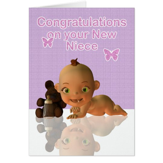 Congratulations Aunt and Uncle New baby Niece blan