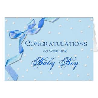 Congratulations - Baby Boy Card