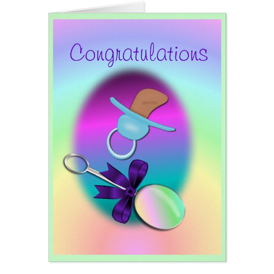 Congratulations Baby Card- customise Card