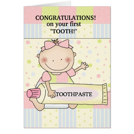 Congratulations baby stamp card