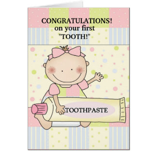 Congratulations baby stamp greeting card