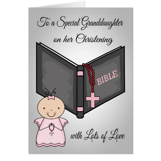 Congratulations, Baptism Granddaughter Card