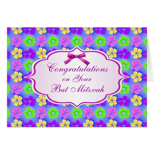 Congratulations, Bat Mitzvah Card
