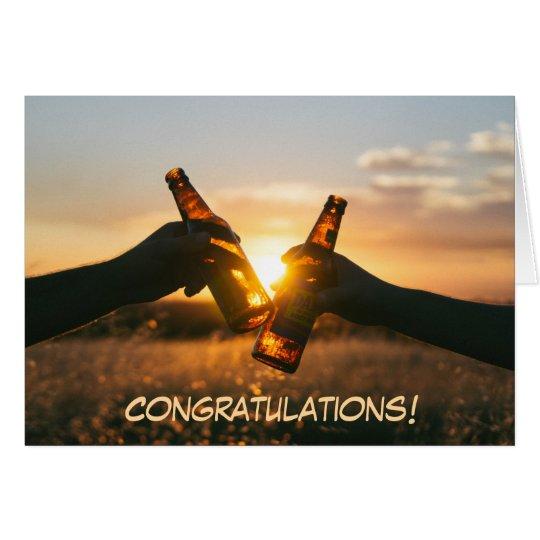 Congratulations Beach Toast Card