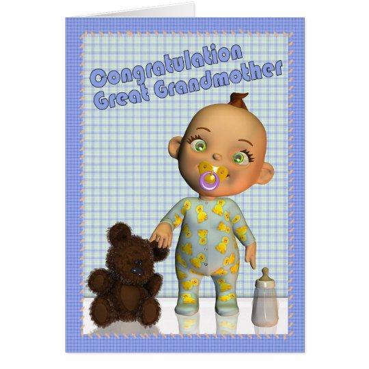 congratulations becoming a Great Grandmother Card