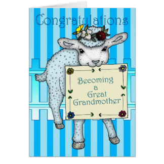 congratulations becoming a Great Grandmother Greeting Card
