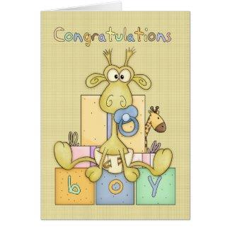 Congratulations Birth Of Baby Boy Card