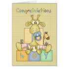 Congratulations Birth Of Baby Boy Card - Cute Baby