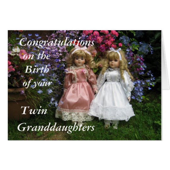 Congratulations birth of your twin granddaughters card