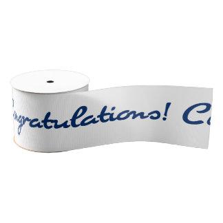 Congratulations Blue Resistance Grosgrain Ribbon